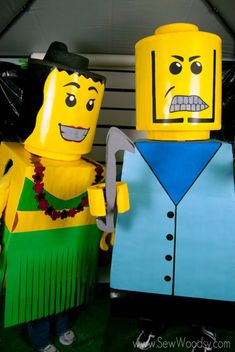 DIY Lego Costumes from SewWoodsy.com #Halloween #Costumes #DIY