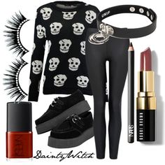 I want your skulls #polyvore #girly #preppy #prettypastels #pretty #pastel #softgrunge #grunge #tumblr  #edgy #punk #nugoth #gothgoth