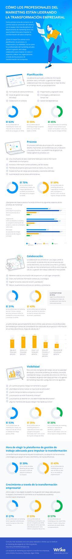 Cómo los profesionales de marketing lideran la transformación empresarial (infografía) Canal E, Online Marketing, Map, Project Management, Organizations, Highlights, Management, Location Map, Maps