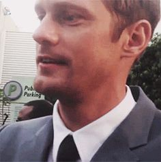 When he showed some tongue at the True Blood premiere and the entire world fainted at once. | The 34 Most Important Things Alexander Skarsgard Did In 2013