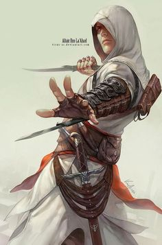 Anime picture assassin's creed (game) altair ibn la-ahad single tall image looking at viewer simple background standing holding lips realistic shadow boy gloves weapon sword fingerless gloves hood dagger fanny pack 300318 en Assassin's Creed 3, Character Concept, Character Art, Character Design, Concept Art, Fantasy Male, Final Fantasy, Cool Animes, Arte Assassins Creed
