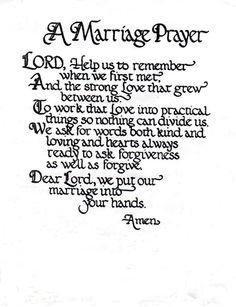 Marriage Prayer Poem