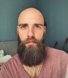 Bald Men With Beards, Bald With Beard, Bald Man, Long Beards, Shaved Head With Beard, Beard Head, Shaved Heads, Faded Beard Styles, Beard Styles For Men