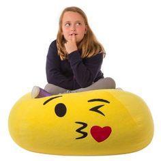 Kids Kiss Bean Bag Chair - Yellow -GoMoji