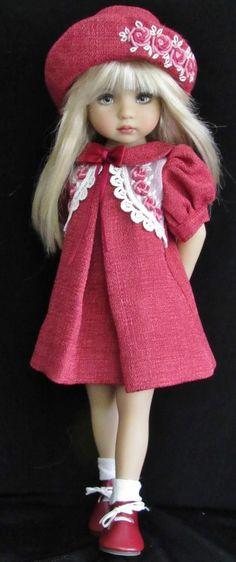 """vintage style dress set made for effner little darling 13"""" dolls:"""
