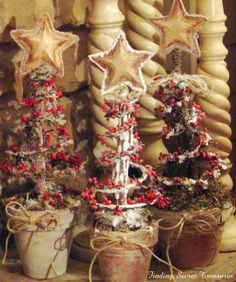Bedspring Christmas Trees...Kee-ute!!  (from Finding Secret Treasure)