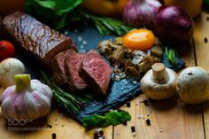 Pic: Steak with mushroom