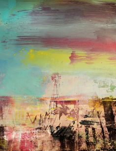 Texas by Austin artist Karen Salem. Mixed media on canvas available exclusively at Town & Country Leather 512 350-2350.