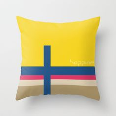 HAPPINESS Throw Pillow by TT+SMITH by Haina - $20.00