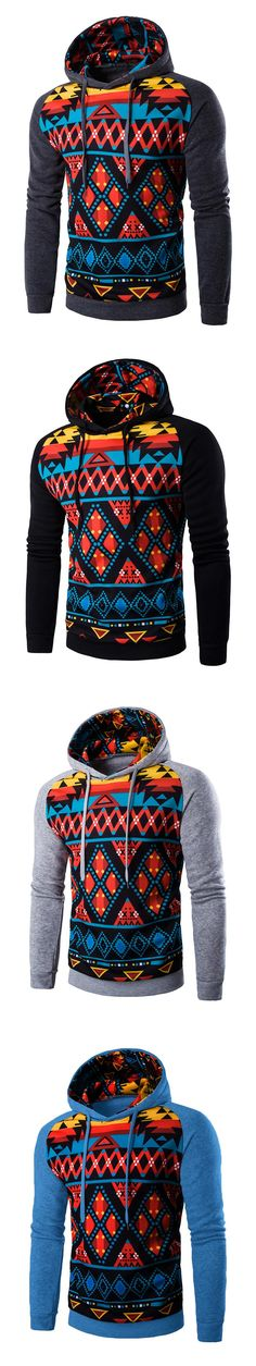 Men 's hooded space cotton digital printing hit the color leisure coat 2017 Autumn and winter new products hot sale