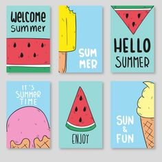 Ice cream poster Vectors, Photos and PSD files Simple Canvas Paintings, Easy Canvas Art, Small Canvas Art, Mini Canvas Art, Easy Canvas Painting, Cute Paintings, Diy Canvas, Diy Painting, Mini Tela