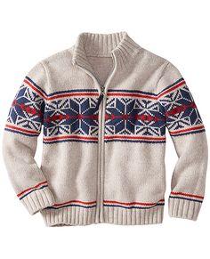 Crackerjack Zipfront Sweater from #HannaAndersson.
