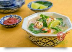Hot & Sour Fish Soup with Lemon Grass & Ginger