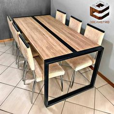 10 Creative Ideas for Dining Room Walls Welded Furniture, Industrial Design Furniture, Iron Furniture, Steel Furniture, Home Decor Furniture, Furniture Design, Furniture Stores, Vintage Furniture, Wood Table Design