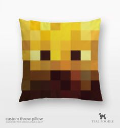 Minecraft Blaze Throw Pillow - Mine Craft etsy $36