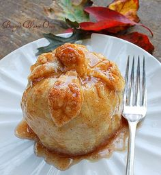 """Barb's Apple Dumplings...The best apple dumplings you'll ever make. Includes """" How To"""" pictures."""