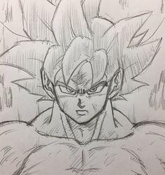 Goku Drawing, Ball Drawing, Dbz Drawings, Art Drawings Sketches Simple, Super Manga, Anime Boy Sketch, Manga Dragon, Spaceship Art, Drawing Reference Poses