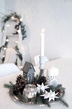 SIMPLE VINGETTE FOR A TABLE FOR CHRISTMAS OR WINTER!!! christmas decorating ideas (30)
