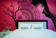 Geysha wallpaper by Fototapeta4u.pl