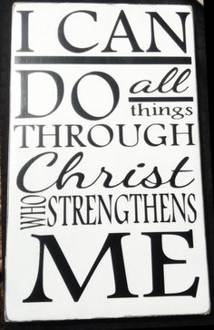 I Can Do All Things Wall Sign - Custom Wood Sign - Wood Board Home Decor