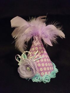 My Vintage Lady.. Party hat combo lila+tiffany blue  #partyhats