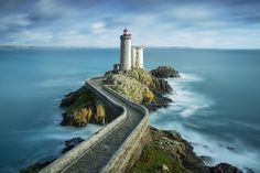 Lighthouse Phare du Petit Minou in the roadstead of Brest in the commune of Plouzané in Brittany (Bretagne), France Places Around The World, Around The Worlds, Brest France, Lighthouse Photos, Ushuaia, Am Meer, Landscape Photography, Michigan, Places To Go