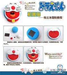 Polymer clay Doraemon!!