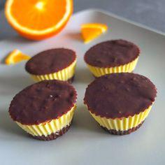 raw pomerančové dortíčky