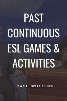 Check out the top picks for past continuous ESL games, activities, worksheets and lesson plans. Have some fun with English grammar. #grammar #teaching #education #teachingenglish #englishteacher #eslteacher #teachingesl #englishgrammar #teachinggrammar #past #pasttense #verb #verbs Teaching English Grammar, Teaching English Online, Efl Teaching, Teaching Tips, English Fun, First Language, High School Students, Esl, Teacher Resources