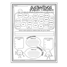 Elementary Spanish, Teaching Spanish, Grade 1, Second Grade, Common And Proper Nouns, Literacy, Language, Classroom, Activities