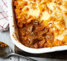 bbcgoodfood:Family meals: Easy beef stew with sweet potato topping-they will LOVE this in my house!