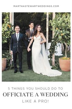 What to Wear to Officiate a Wedding   Clothes   Pinterest   Wedding     5 Things You Should Do to Officiate a Wedding Like a Pro   Martha Stewart  Weddings