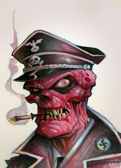 """""""Red Skull"""" - Brett Parson ----- http://www.herocomplexgallery.com/collections/red"""