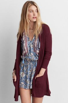 American Eagle Outfitters AE Feather Light Hooded Cardigan