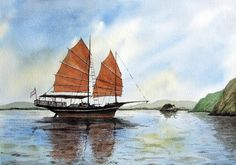 Andrew Swift   WATERCOLOR           Chinese Junk