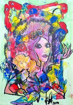 Artwork >> Jürgen Grafe >> NATURE ROMANCE  #artworks, #nature, #romance, #masterpiece, #oiloncanvas, #lady, #woman