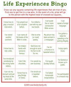 Free Printable: This game is a great ice breaker. Play it while guests are arriving for a party.