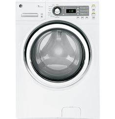 GE GFWH1400DWW 4 Cu. Ft. White Stackable Front Load Washer - Energy Star Tackles the toughest stains, from fresh grass marks to food spills. Boosts water temperatures and helps achieve sanitization. Energy-saving option uses a cold water wash on select cycles without sacrificing performance. Washes larger items, such as comforters, blankets and jackets. Meets or exceeds federal guidelines for ener... #GE #MajorAppliances