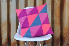 DIY.. Half Square Triangle Pillow | Haberdashery Fun
