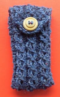Baljaffray Handknits: Free Knitting Pattern: IPod or Mobile (Cell Phone) Case