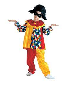 Costume da Arlecchino per bambino: la Commedia dell'Arte è un classico della nostra tradizione teatrale ed ispira tanti spettacoli scolastici. Per la tua recita di fine anno guarda che bello questo travestimento da Arlecchino!