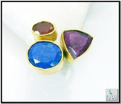 Multi Red Onyx Gems Stones 18k Y.G. Plated Memento Mori Ring Sz 7 Gprmul7-5266 http://www.riyogems.com