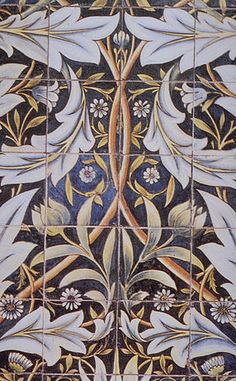 William Morris - ceramic tiles -early art nouveau