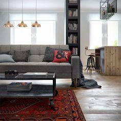 Apartamento de um quarto moderno e bem eclético - limaonagua