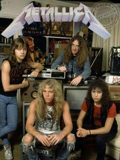 Metallica with Cliff Burton.