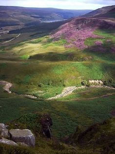 Along The Pennine Way National Trail, a walk which begins in Edale, Derbyshire, travels through 3 National Parks, and finishes at Kirk Yetholm across the Scottish Border. This is near Glossop, Derbyshire