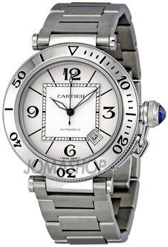 32e6ad5dfab4 Cartier Pasha Seatimer Steel Men s Watch W31080M7