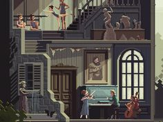 Scene #32: 'The Art School' (detail) by Octavi Navarro - Dribbble