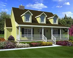 Cape Cod Style House Plans   1560 Square Foot Home , 2 Story, 3 Bedroom And  2 Bath, Garage Stalls By Monster House Plans   Plan