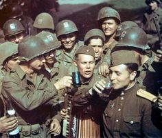 American and Soviet soldiers 1945 WWII -American and Soviet soldiers 1945 WWII - original color   Flickr - Photo Sharing!